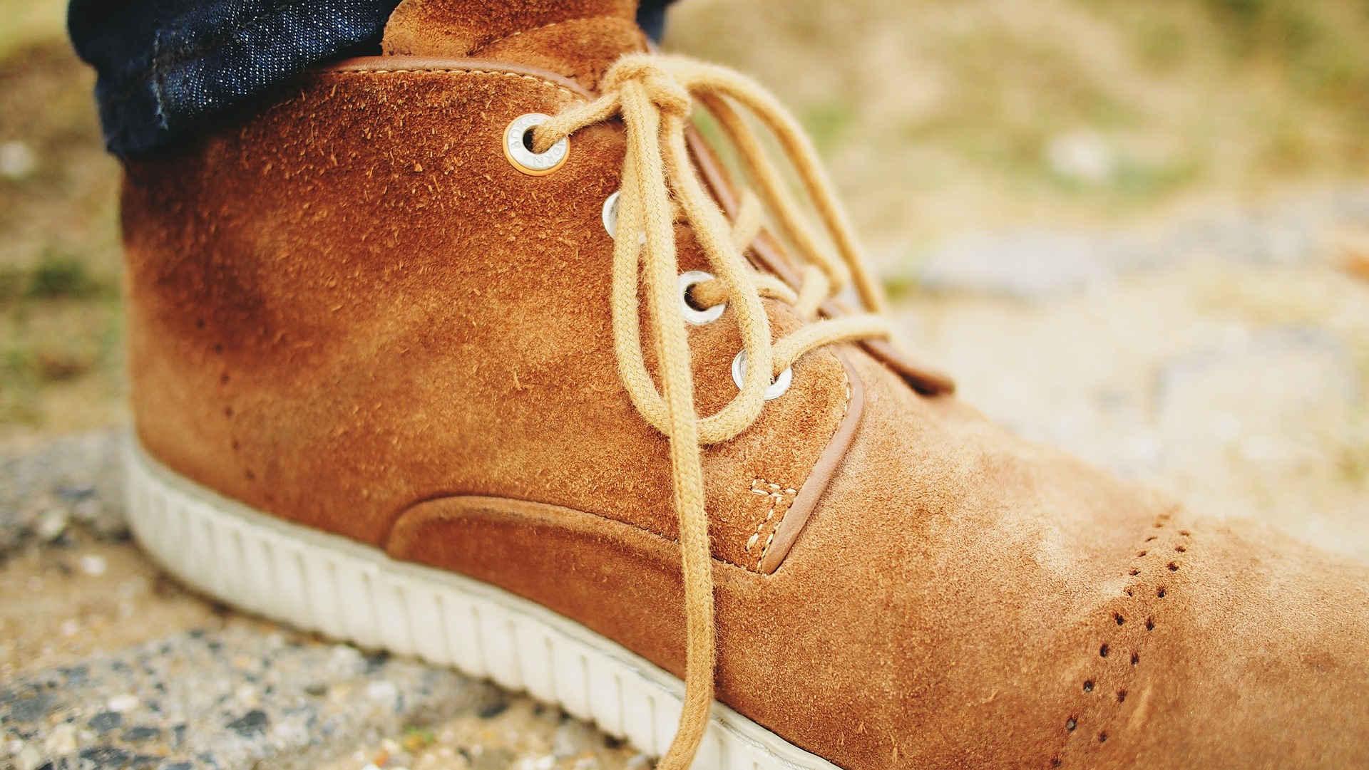 Voorbeeld van een schoen van suède