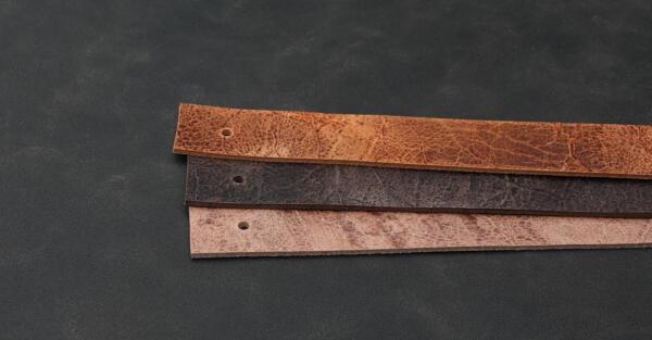 Leren plankdragers plantaardig gelooid splitleer
