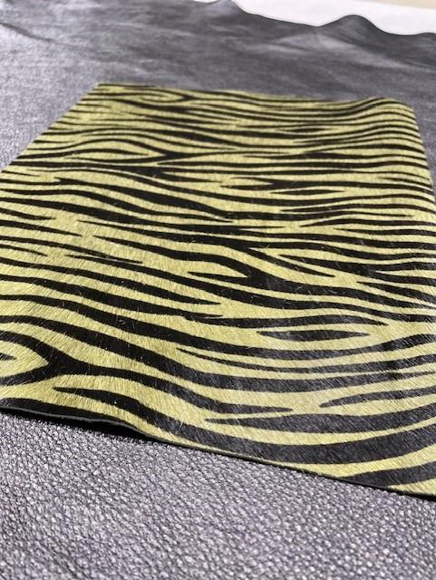 Koehuid zebra groen