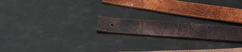 Leren plankdrager bruin craquelé