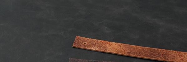 Leren plankdrager cognac craquelé
