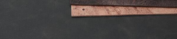 Leren plankdrager naturel craquelé