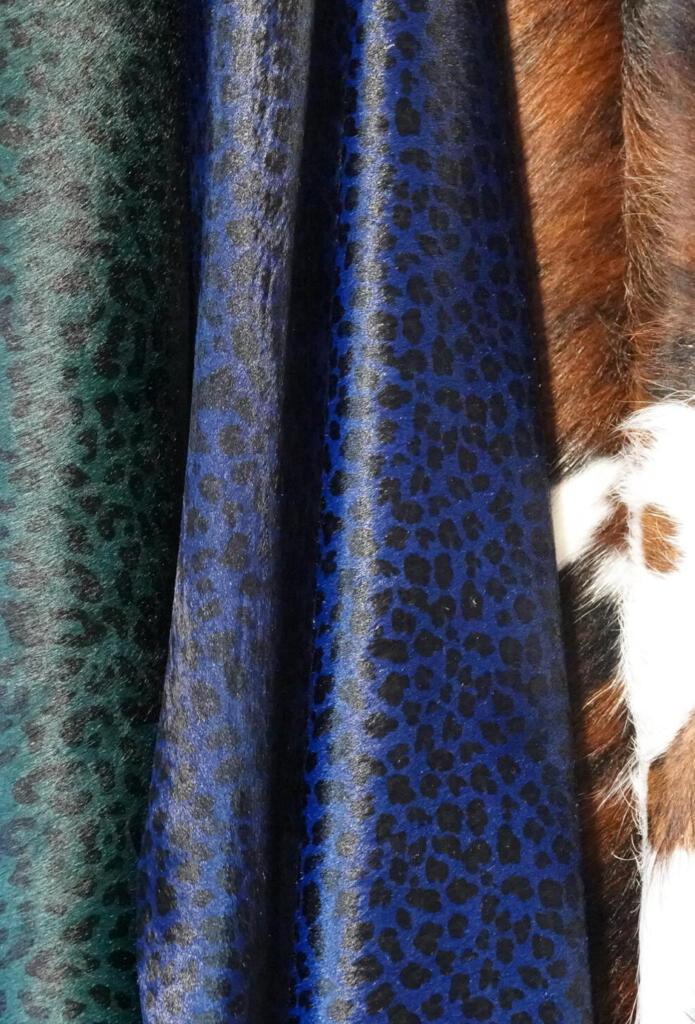 Koeienhuid leopard blauw
