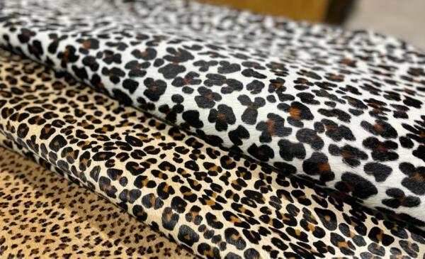 Koeienhuid Leopard wit